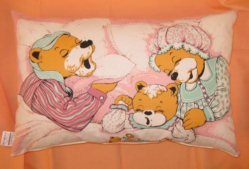 Dětský polštář 40x60 (růžový medvídek)