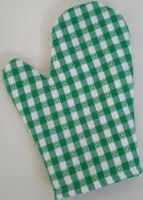 Chňapka kuchyňská kanafas zelené srdíčko
