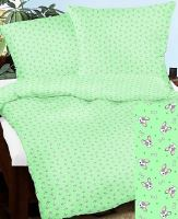 Bavlněné povlečení 70x90-140x200cm sv.zelený pejsek