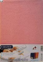 Froté prostěradlo jednolůžko 100x200/25cm (č. 8-růžové)