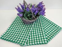 Utěrka tkaná kanafas 45x70cm zelené srdíčko 100% Bavlna