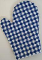 Chňapka kuchyňská kanafas modré srdíčko (dostupné cca od 25.11.)
