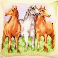 Polštářek  krep  koňe  40x40