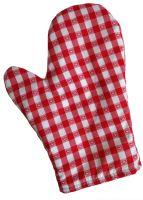 Chňapka kuchyňská kanafas červené srdíčko