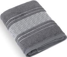 Froté ručník Mozaika 50x100 cm tm.šedá