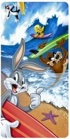 Froté osuška Bugs Bunny na surfu 75x150 cm