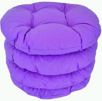 Sedák prošívaný kulatý průměr 40cm  (fialový)