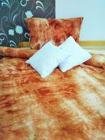 Prodloužené froté povlečení 70x90 - 140x220 (batika rezavá)
