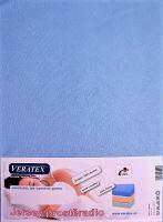 Jersey prostěradlo jednolůžko 90x200/25 cm (č.21-sv.modrá)