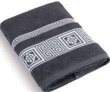 Froté ručník 50x100 cm Řecká kolekce - tm. šedá