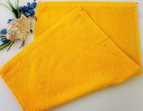 Dětský froté ručník 30x50 cm sytě žlutý