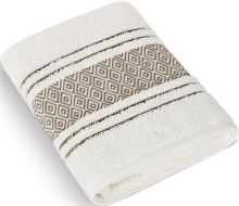 Froté ručník Mozaika 50x100 cm krémová