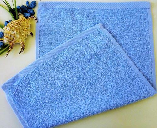 Dětský froté ručník 30x50 cm světle modrý