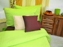 Bavlněné povlečení žlutozelené 70x90 140x200cm