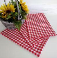 Utěrka tkaná kanafas 45x70cm červené srdíčko 100% Bavlna