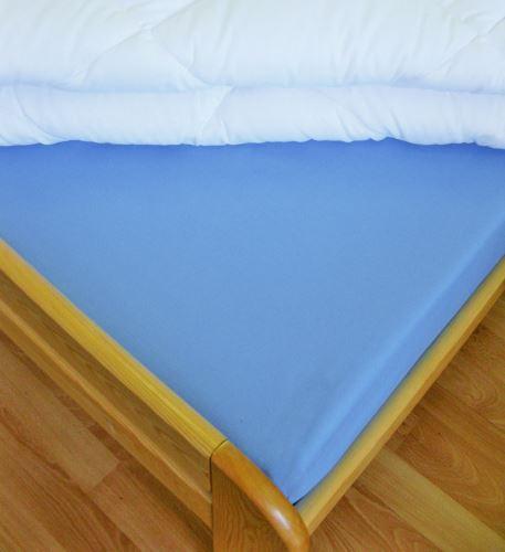 Bavlněné prostěradlo dvoulůžko 220x240 cm (sv.modré)