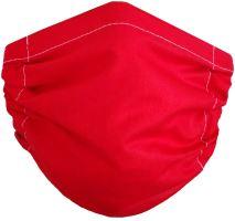Bavlněná ochranná rouška na ústa Červená 2-vrstvá