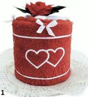 Veratex Textilní dort Srdíčka jednopatrový