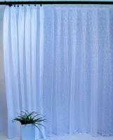 Dekorativní látka na závěsy  Orlando - bílá - šíře 160cm