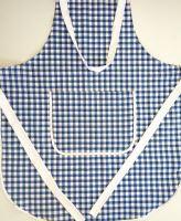Zástěra kuchyňská tkaný kanafas modré srdíčko 70x80cm