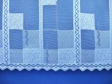 Záclona Kostky výška 60 cm (bílá)
