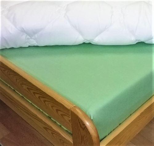 Bavlněné 2L s gumou zelená 180x200 (zelená) SKLADEM POSLEDNÍ 2KS