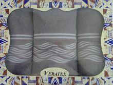 Luxusní dárkový froté set 1 osuška 2 ručníky - Vlnky šedé 480g m2