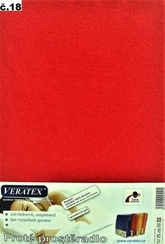 Froté prostěradlo jednolůžko 90x200/16cm (č.18-červená)