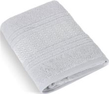 Froté osuška Mozaika 70x140 cm světle šedá