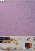 Froté prostěradlo 100x220 cm (č.13-fialková)
